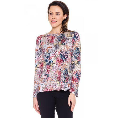 Bluzka w różnokolorowe kwiaty - Duet Woman