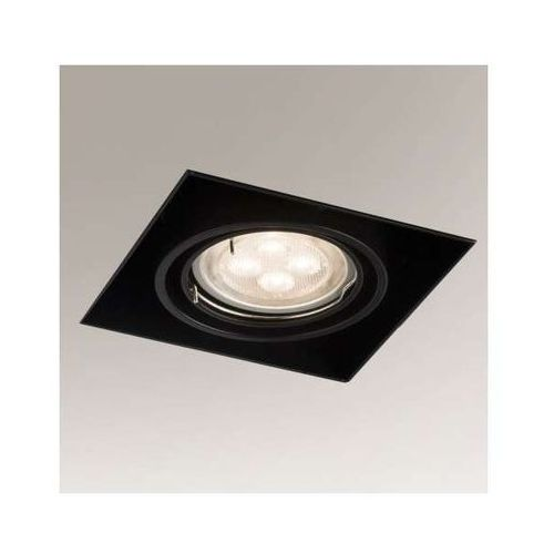 Podtynkowa lampa sufitowa omura 3301/gu5.3/cz kwadratowa oprawa metalowa wpust czarny marki Shilo