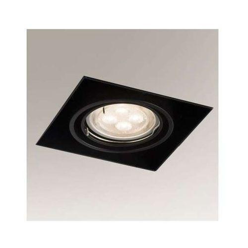 Podtynkowa LAMPA sufitowa OMURA 3301/GU5.3/CZ Shilo kwadratowa OPRAWA metalowa wpust czarny, 3301/GU5.3/CZ