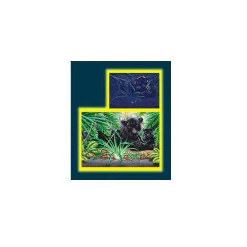 Puzzle 1000 pantery w dżungli neon dino marki Dino toys