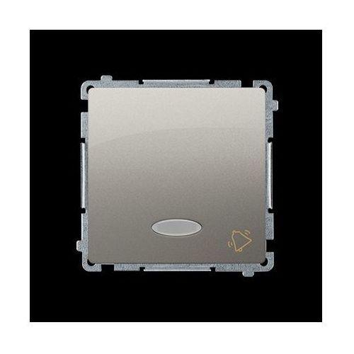 Przycisk dzwonek z podświetleniem (moduł) 10AX, 250V~, zaciski śrubowe; satynowy