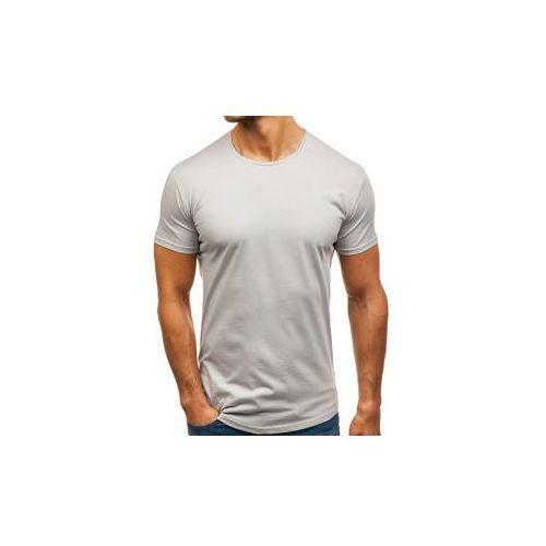 T-shirt męski bez nadruku ciemnoszary denley 181227 marki Breezy