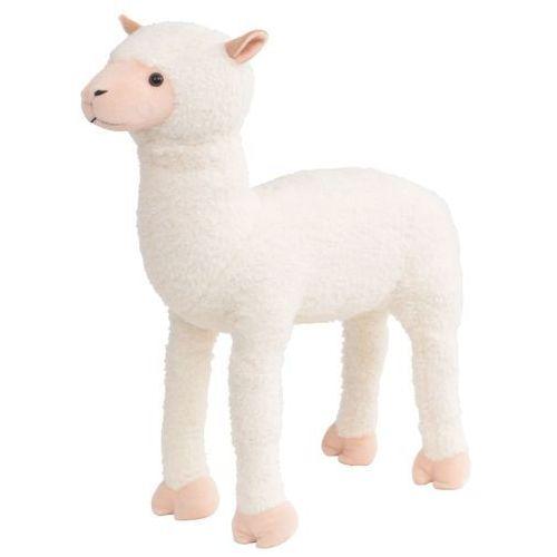 Vidaxl pluszowa alpaka, stojąca, biała, xxl (8718475565819)
