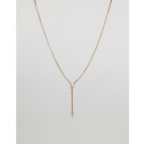 Mister bead & chain necklace in gold - gold