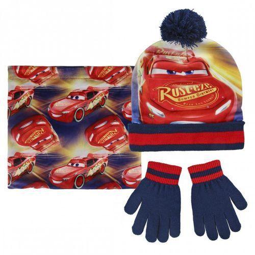 Komplet: czapka jesienna / zimowa, komin i rękawiczki Cars - Auta