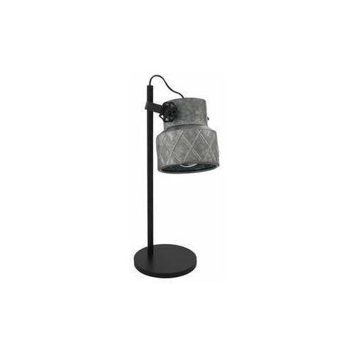 Eglo Hilcott 39857 lampa stołowa lampka 1x40W E27 czarna/szara