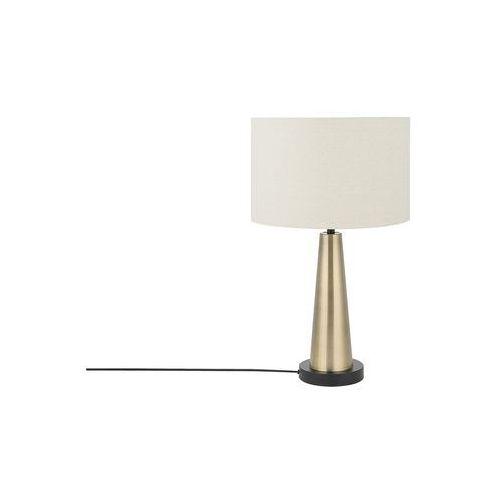 Beliani Lampa stołowa jasny beż/złota 60 cm sandon