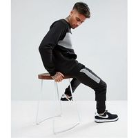 boohooMAN Skinny Tracksuit With Contrast Blocks In Black - Black, 1 rozmiar