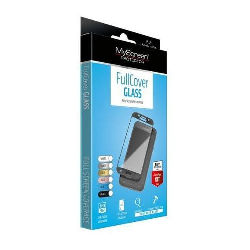 MyScreen Protector FullCover Szkło Huawei P8 Lite Czarny (PROGLAFULCHUP8L7C) Darmowy odbiór w 20 miastach!, kolor czarny