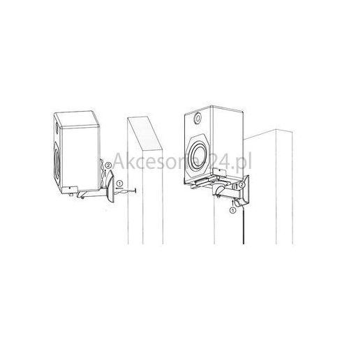 ART Uchwyty zaciskowe do głośników białe 25kg 2szt. G-04