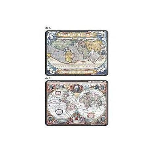 Podkładka edu. 065 - Mapy świata z XVI i XVIIw.