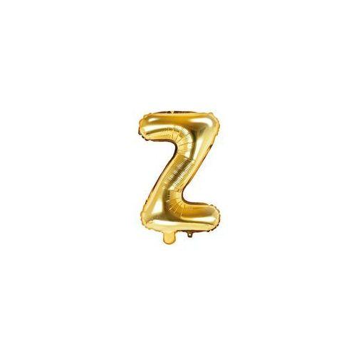 """Party deco Balon foliowy litera """"z"""" złota - 35 cm (5902230772465)"""