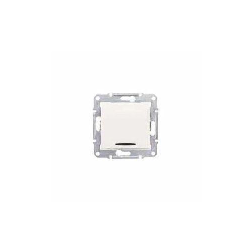 Łącznik krzyżowy Schneider Sedna SDN0501123 pojedynczy z podświetleniem kremowy (8690495050240)
