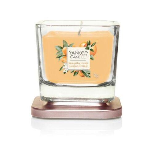 Mała kwadratowa świeca z jednym knotem kumquat & orange marki Yankee candle