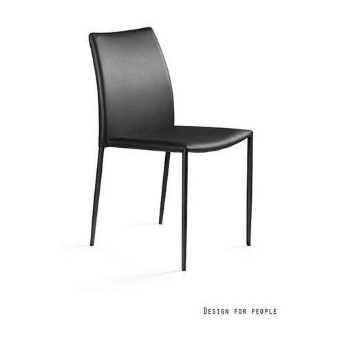 Krzesło Design Ekoskóra czarny PU-4