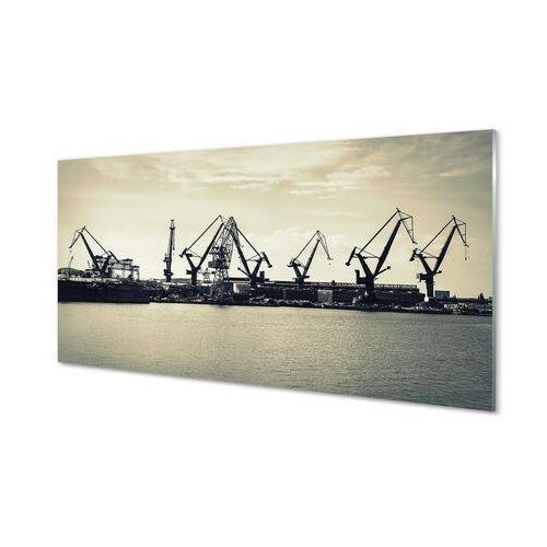 Obrazy akrylowe Gdańsk Stocznia żurawie rzeka