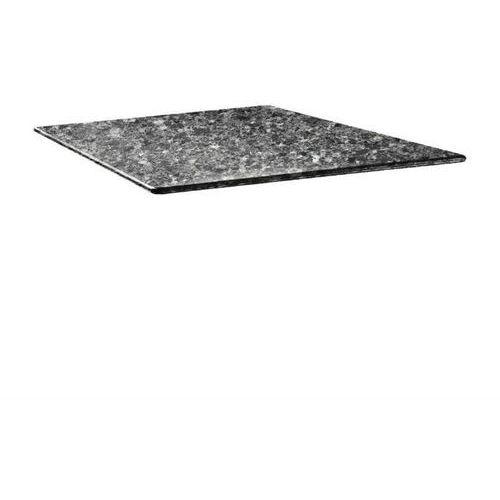 Topalit Blat kwadratowy czarny granit | różne wymiary