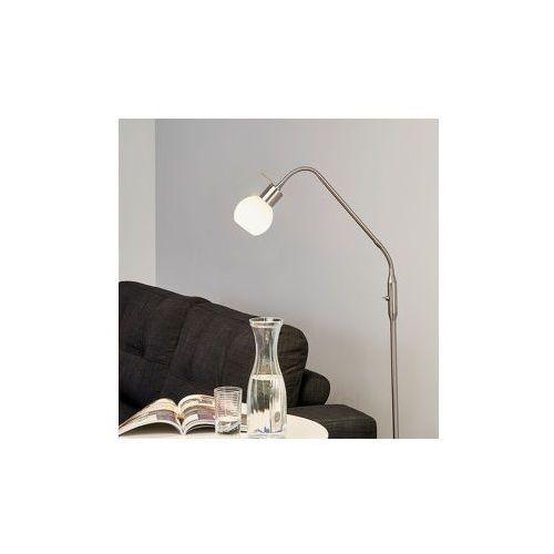 Smukła lampa stojąca led elaina, matowy nikiel marki Lampenwelt