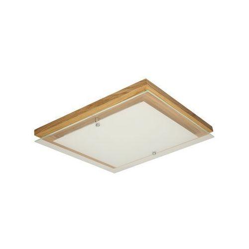 Plafon lampa oprawa sufitowa Spot Light Finn 1x14W/LED dąb olejowany/biały 4022974 (5901602335697)