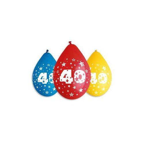 Gemar Balony pastelowe z nadrukiem 40 - mix - 30 cm - 5 szt. (8021886318500)