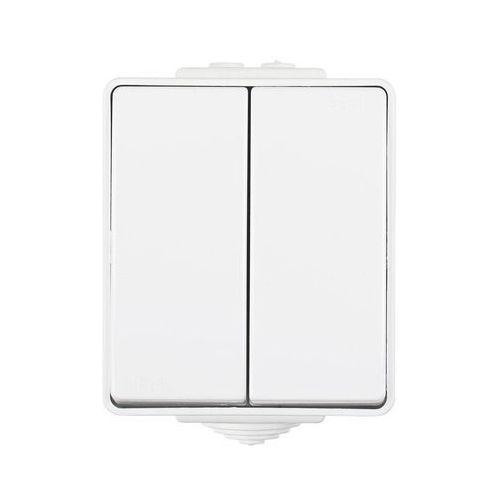 Efapel Włącznik schodowy podwójny biały ip65 waterproof
