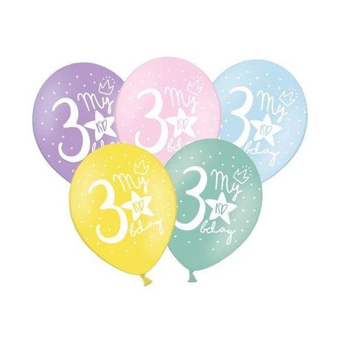 Balony my 3rd bday pastel mix 30cm 1/50 marki Twojestroje.pl
