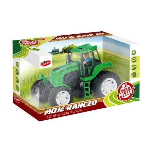 Mega creative Moje ranczo -traktor plastikowy. b/o pl 22cm (5901350253694)