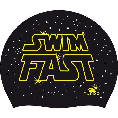 Turbo Swim Fast Future Czepek pływacki czarny 2018 Czepki pływackie (8427306659916)