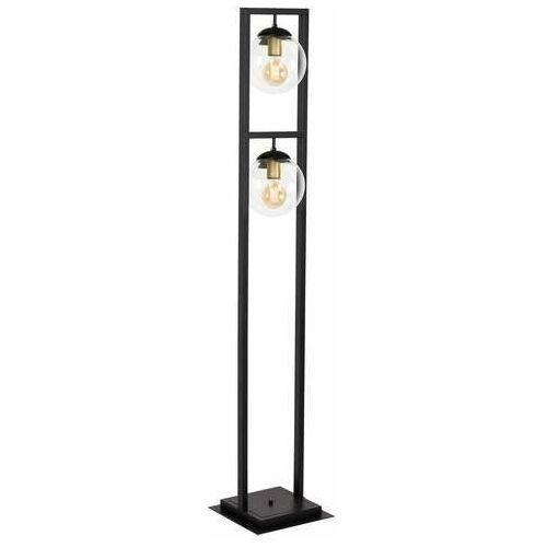 Luminex rey 1434 lampa stojąca podłogowa 2x60w e27 czarna