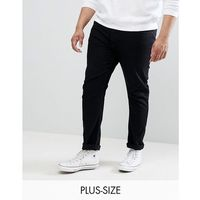 plus slim jeans in black wash - black marki Burton menswear