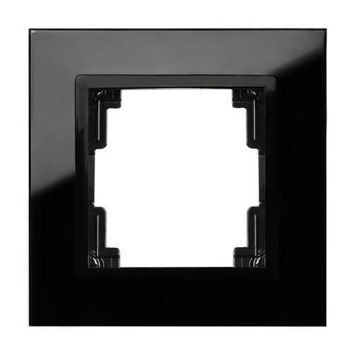 Ramka pojedyncza Elektro-Plast Volante szklana czarna, 2671-61