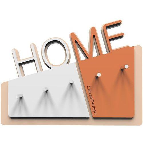 Wieszak na klucze home terakota / biały (18-001-24) marki Calleadesign