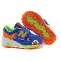 Buty dziecięce New Balance 580BM Niebieskie/pomarańczowe/seledynowe/białe, 13579