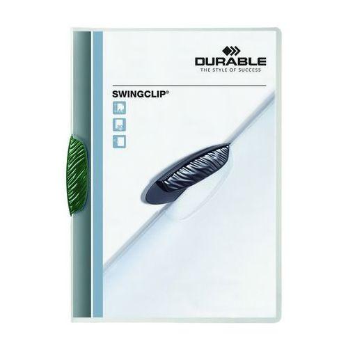 Skoroszyt zaciskowy swingclip zielony a4/30k. marki Durable