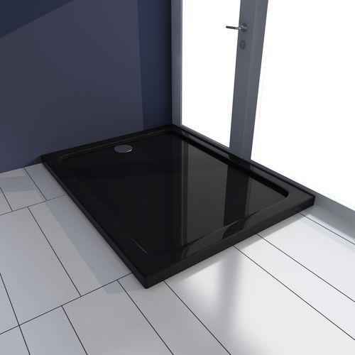 vidaXL Brodzik prysznicowy prostokątny ABS czarny 70 x 90 cm (8718475904908)