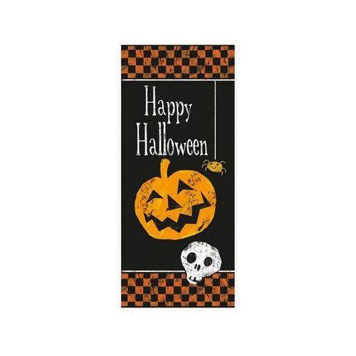 Unique Dekoracja halloween'owa na drzwi dynia z czaszką - 68,5 x 152 cm - 1 szt.