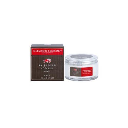 sandalwood & bergamot krem do golenia dla mężczyzn 150 ml + do każdego zamówienia upominek. marki St. james of london