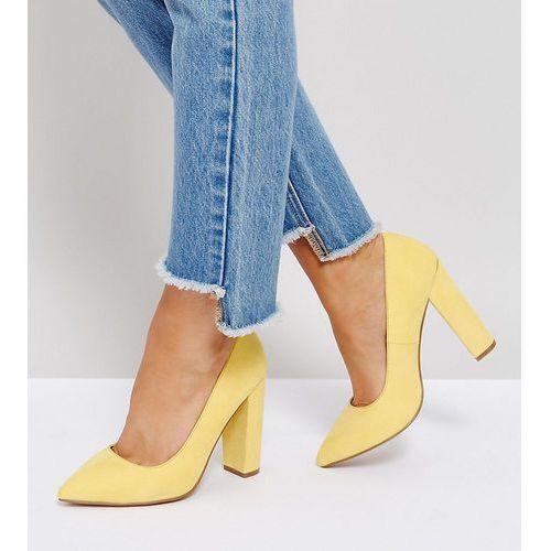 ASOS PHANTOM Wide Fit Pointed Heels - Yellow