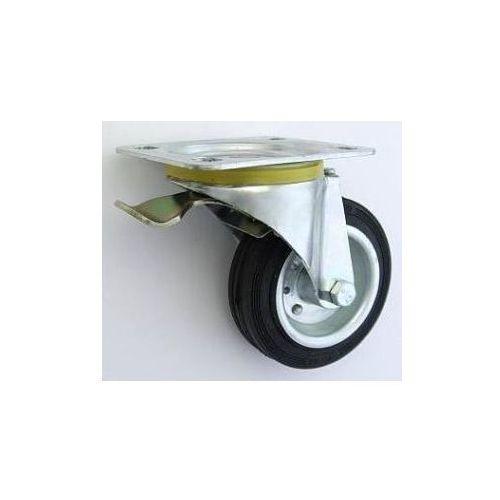 Koło metalowo-gumowe w obudowie skrętnej z hamulcem fi 100, 17FA-353D8_20130323111112