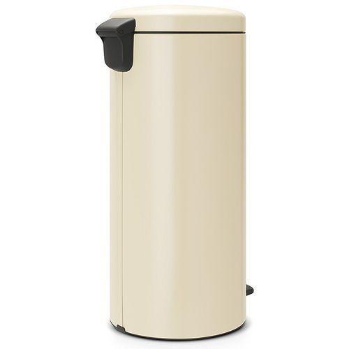 Brabantia - kosz newicon - 30 l - plastikowe wiadro i wolnoopadająca pokrywa - migdałowy - kremowy (8710755114281)