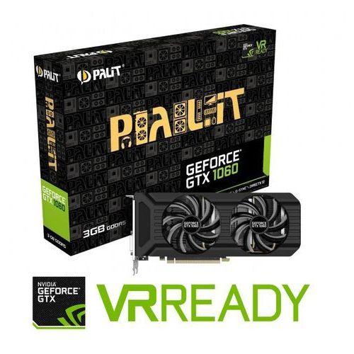 Palit GeForce CUDA GTX1060 DUAL 3GB DDR5 192BIT DVI/HDMI/3DP - DARMOWA DOSTAWA!!!, NE51060015F9D