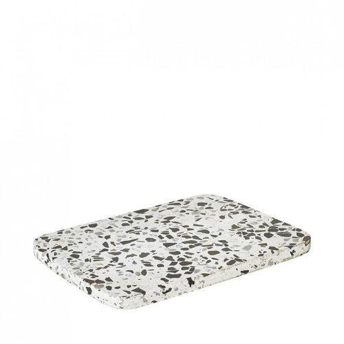 Kamienna deska, white/black, 65685