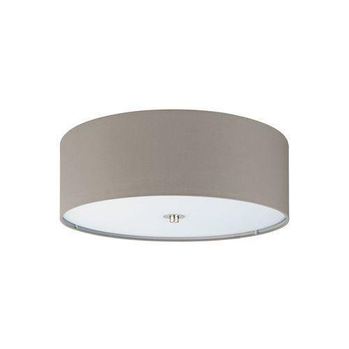 Plafon LAMPA sufitowa PASTERI 94919 Eglo okrągła OPRAWA abażurowa szarobrązowa
