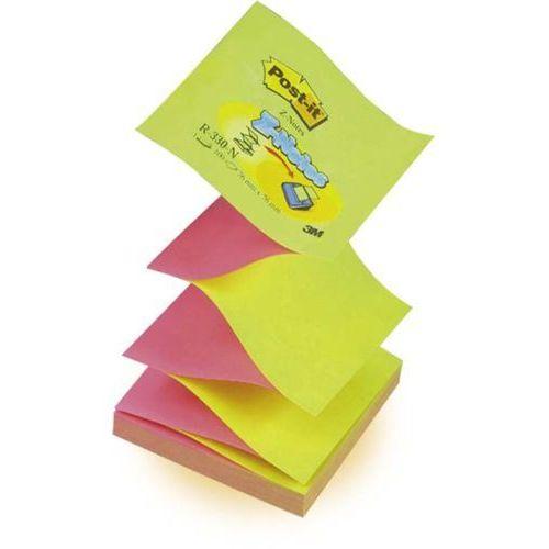 POST-IT Bloczek samoprzylepny Z-NOTES R330-NA 76 x 76 mm, jaskrawy żółto-różowy