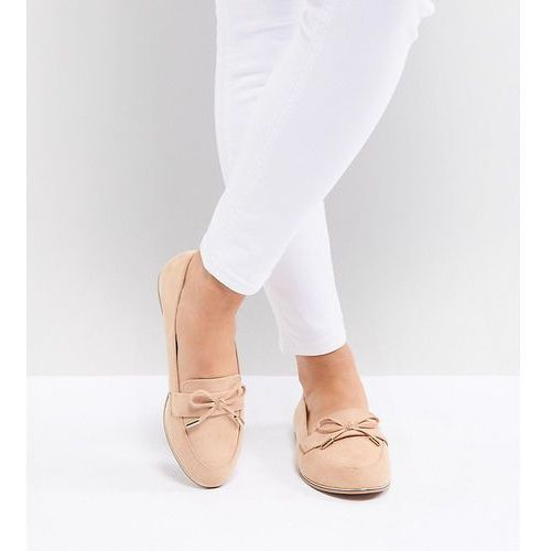 design mossy wide fit flat shoes - beige, Asos