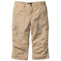 Bonprix Spodnie bojówki 3/4 beżowy