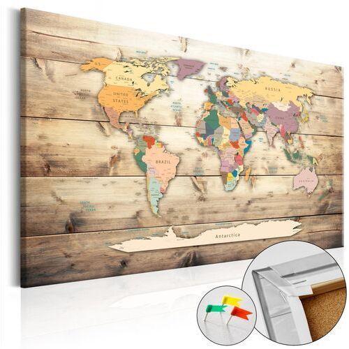 Obraz na korku - Świat na wyciągnięcie ręki [Mapa korkowa]