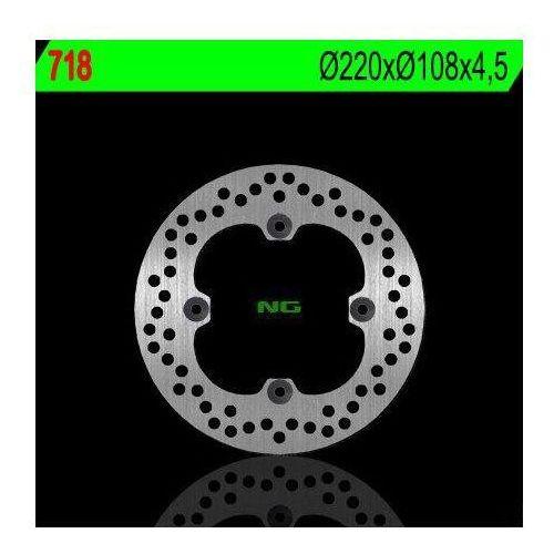NG718 TARCZA HAMULCOWA DUCATI 748/749/916/996/998 '95-'02 (220X108X4,5) (4X8,5MM)