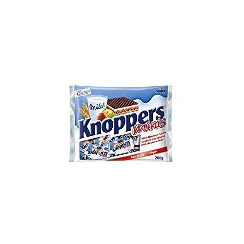 Knoppers minis wafelek mleczno-orzechowy 200 g marki Storck