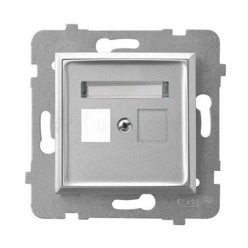 Obudowa gniazda pojedynczego typu keystone prosta gpk-1u/p/18 srebro aria marki Ospel